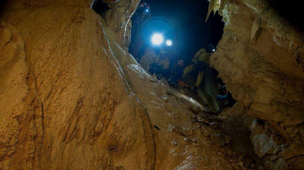 Otro de los rincones de la cueva que fueron visitadas por los espeleólogos