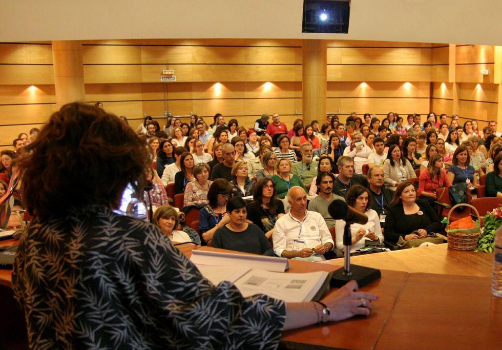 El Aula Xulio Cuns acogió a profesores de toda Galicia.