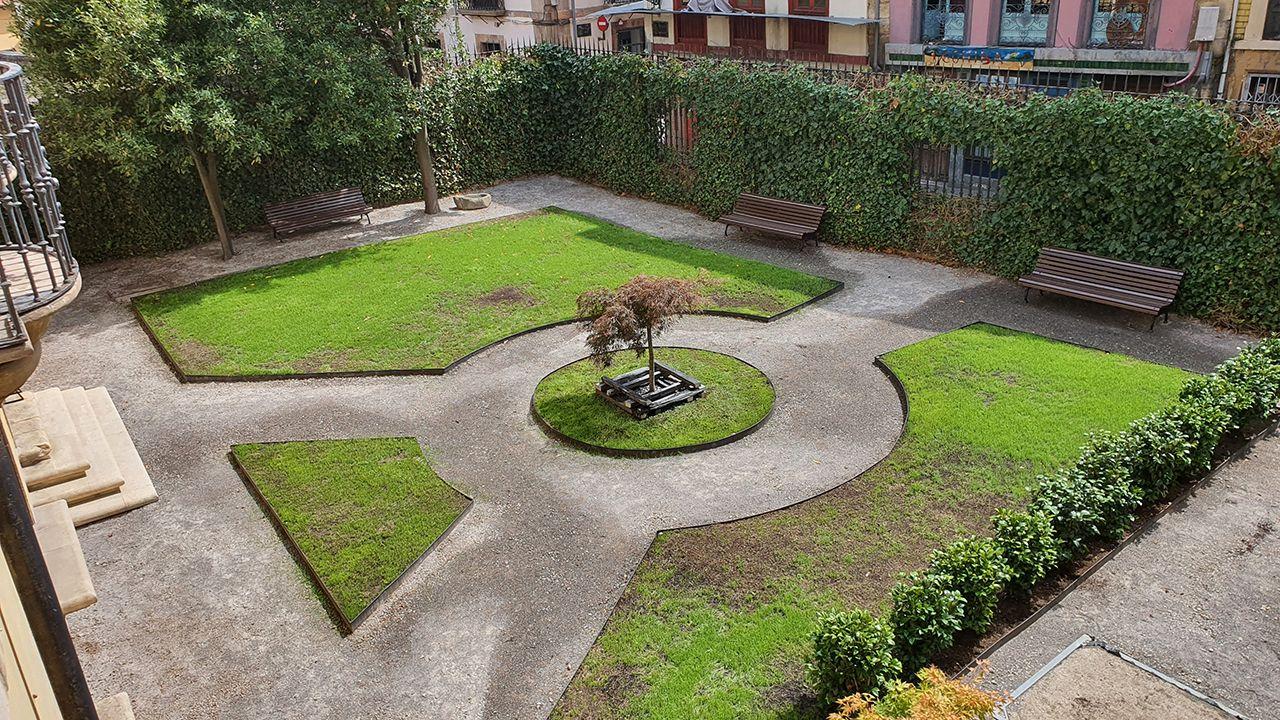 Jardín del Bellas Artes de Oviedo