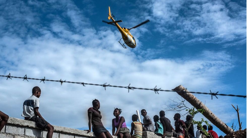 Una de las fotografías de la última serie realizada en Haití por Álex Zapico