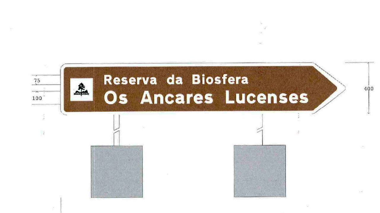 Ejemplos de señalización que se colocarán en Os Ancares