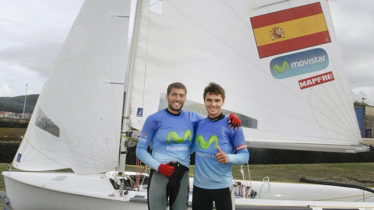 Deportistas gallegos con aspiraciones de ir a los Juegos Olímpicos de Tokio 2020.Nico Rodríguez y Jordi Xammar