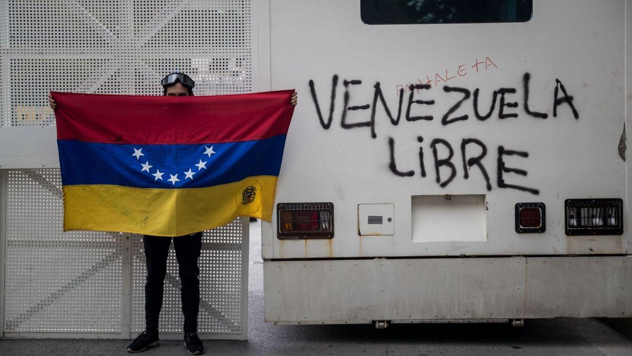 El líder opositor Juan Guaidó recibió el apoyo de la mayoría de países