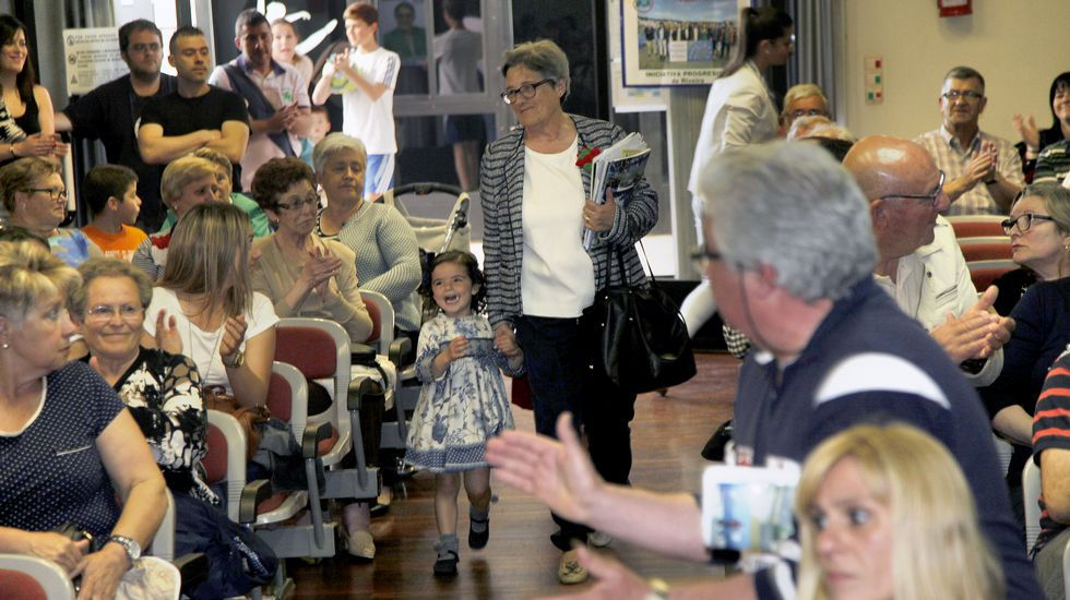 Mitin de IPR en el conservatorio de Ribeira con Rosa García Pose