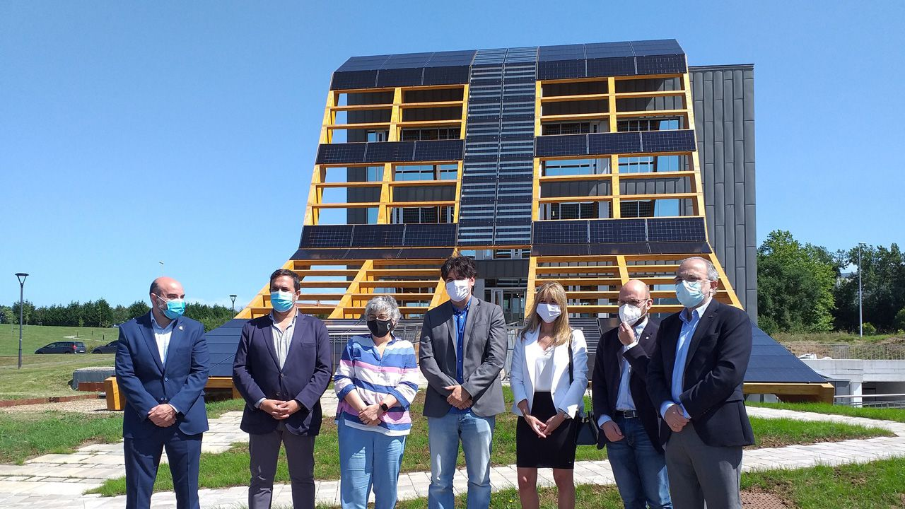 Selectividad en Ourense.Inauguración del edificio 'Greenspace' en el Parque Científico y Tecnológico de Gijón