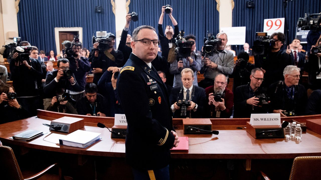 El teniente coronel Alexander Vindman es el principal experto para Ucrania del Consejo de Seguridad Nacional de la Casa Blanca