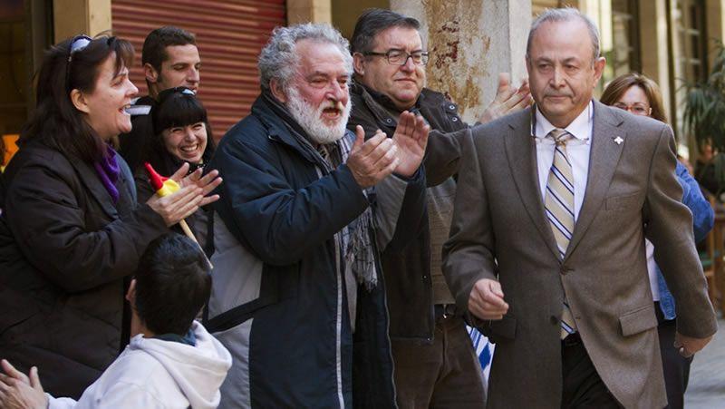 «A nadie le debe escandalizar».La infanta Cristina de Borbón sonríe antes de comparecer, el pasado mes de febrero, ante el juez Castro en los juzgado de Palma.