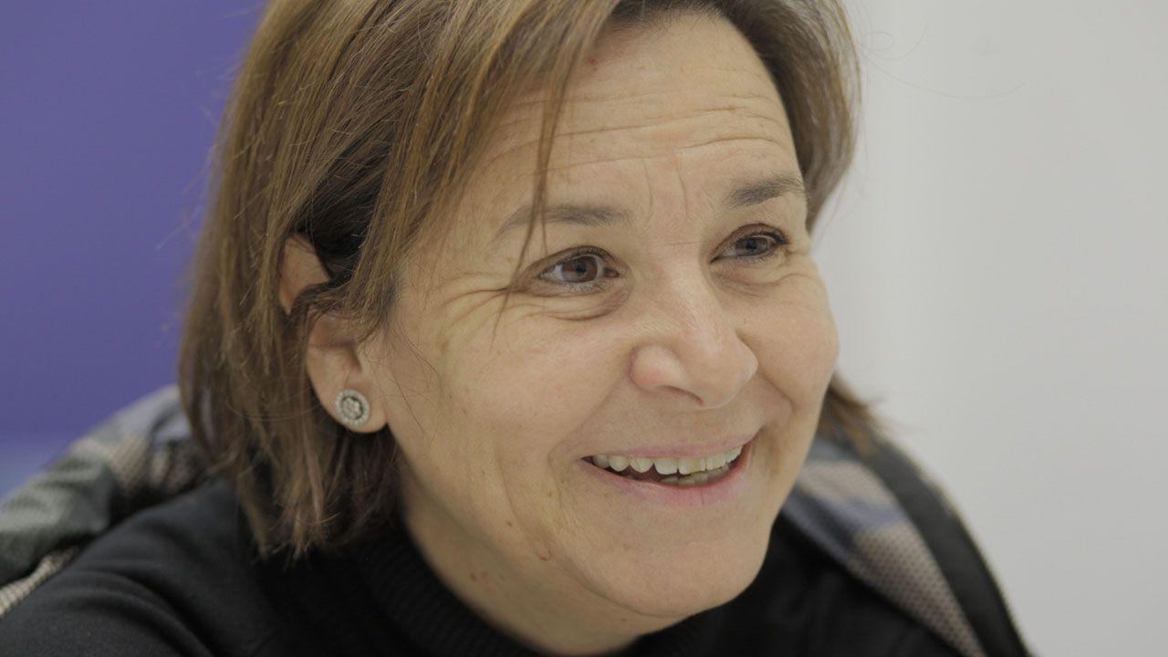 Unafamilia francesa que busca sus orígenes en Asturias.Carmen Moriyón