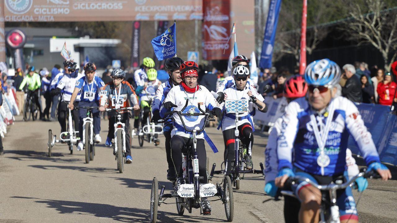 Así son los entrenamientos inclusivos con el Maristas.Campionato de España de Ciclocross celebrado en Pontevedra en xaneiro, carreira pola inclusión. Incluír é dar ás persoas con diversidade funcional as mesmas oportunidades que ao resto