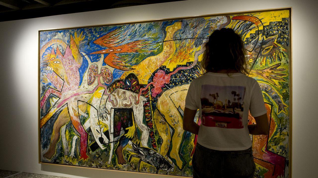 Un viaje por las obras más humanas del arte contemporáneo.Una familia de turistas portugueses, este verano en el Campo da Compañía, en Monforte