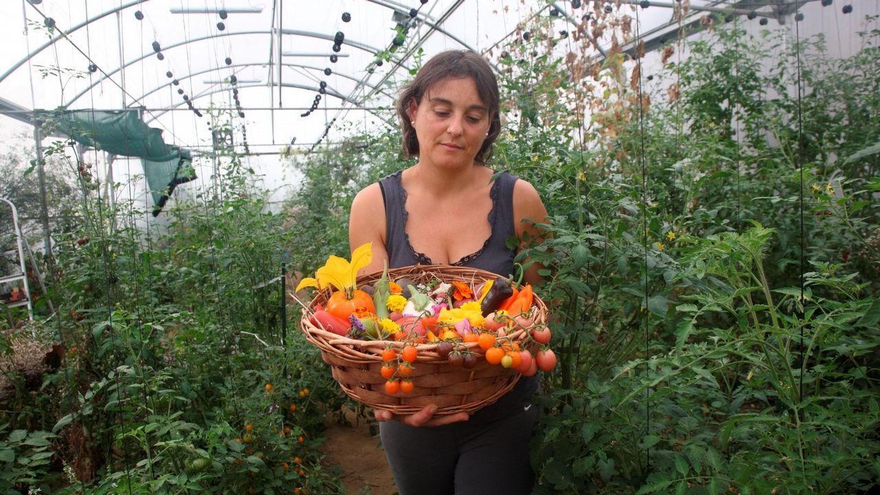 Begoña Sara Pena en O Casal, en el municipio de Bergondo.
