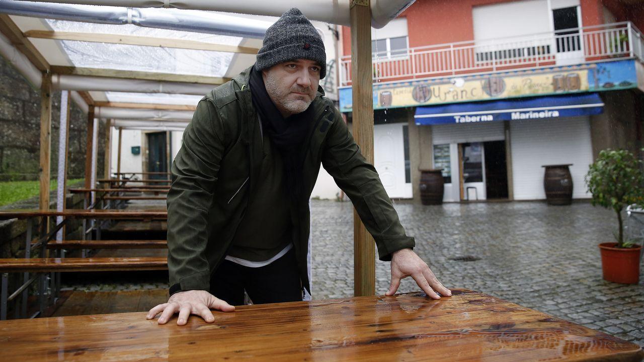 Gómez no pudo estrenar su terraza cubierta, ya que cuando acabaron los trabajos se decretó el cierre de la hostelería