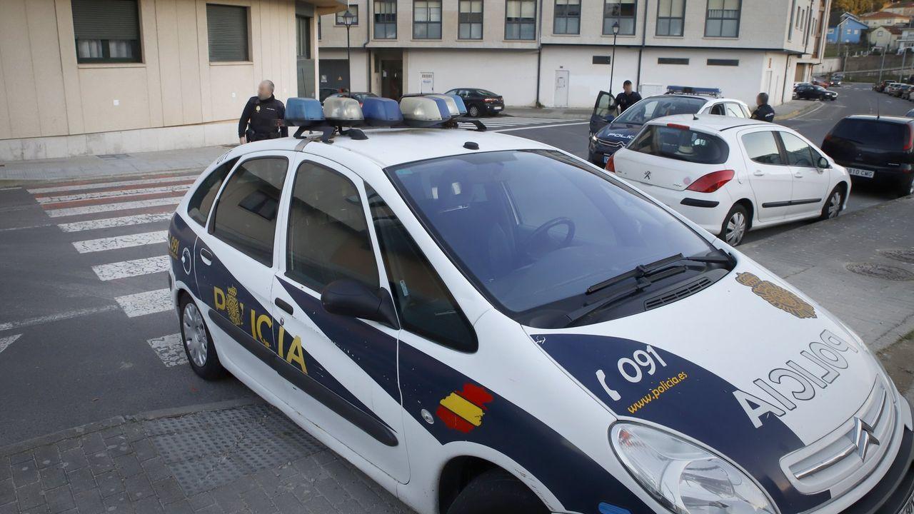 Estado en que quedó el coche en el que viajaban los dos jóvenes muertos en el accidente de Cerceda