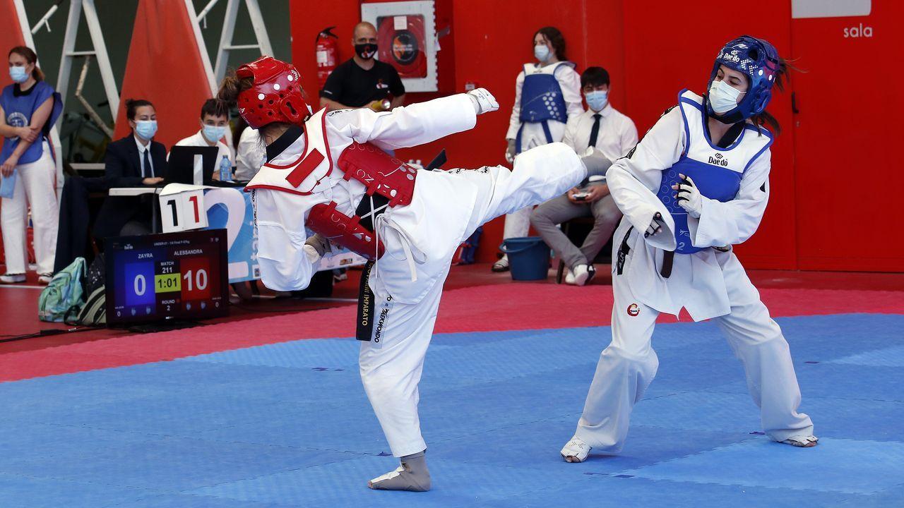 Imagen de un combate del campeonato gallego sub-21 celebrado en Palmeira