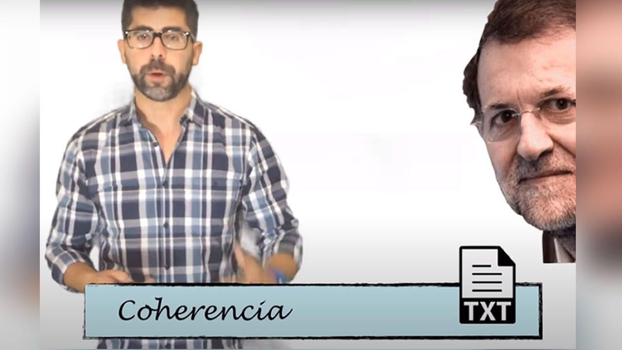 Rajoy, utilizado como ejemplo de incoherencia en un programa educativo de RTVE.Duro Felguera