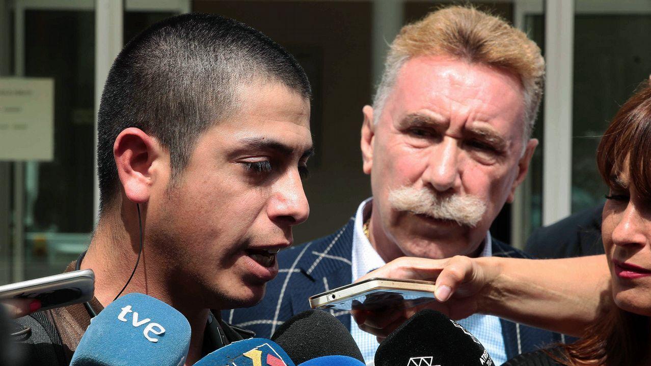 El padre de Naiara acude a los juzgados de Jaca.Manifestación que ha recorrido hoy las calles de Madrid para exigir el din de la violencia machista