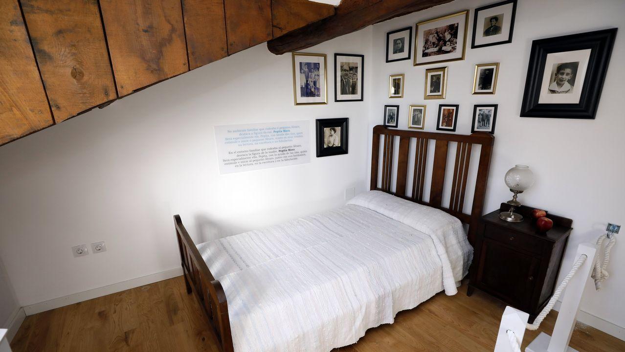 Vista de la cama que utilizaba el escritor