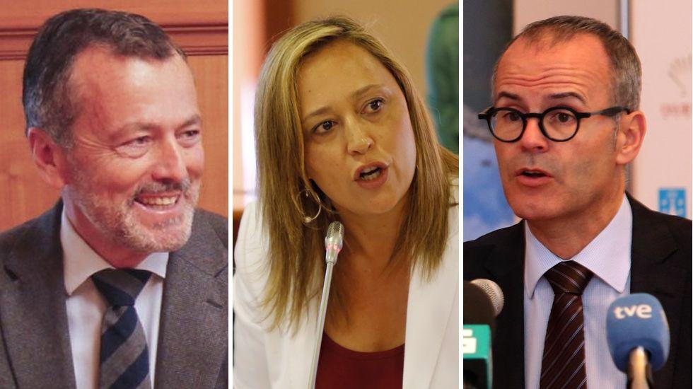 Así es el nuevo Gobierno de Feijoo.Los fijos. Agustín Hernández, Elena Muñoz y Xesús Vázquez